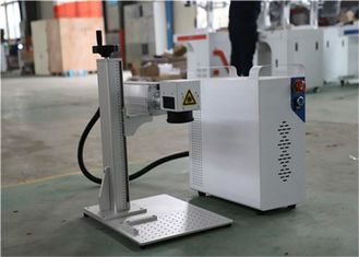 Mini Fiber Laser Marking Machine / White 20w Laser Engraving Equipment